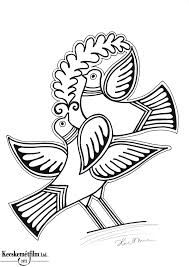 Folk Art, Coloring Pages, 1, Felt, Pottery, Birds, Embroidery, Illustration, Inspiration