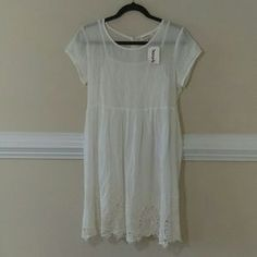 I just added this to my closet on Poshmark: White embroidery cotton dress. Price: $18 Size: M