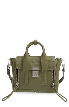 Free shipping and returns on 3.1 Phillip Lim 'Mini Pashli' Leather Satchel at Nordstrom.com. A scaled-down version of Phillip Lim's signature Pashli satchel is revved up for the season in grainy leather with a utilitarian green hue that references vintage military gear. A custom push-lock closure in brushed gunmetal finishes the chic, modern look.