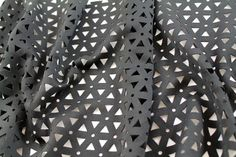 Geometric Laser Cut Neoprene - Black - Gorgeous Fabrics