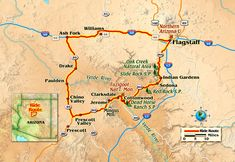 A quick loop through the red rocks and twisting roads of northern Arizona. Motorcycle Rides, Motorcycle Travel, Parade Rest, Oak Creek Canyon, Northern Arizona University, Prescott Valley, Indian Garden, Historic Route 66, Garage Design