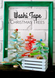Washi Tape Christmas Trees are simple to make and are the perfect holiday decor!