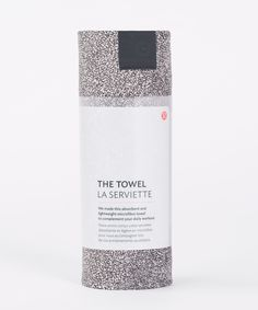 We made this absorbent and   lightweight microfibre towel   to complement your daily   workout