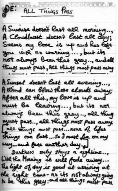 george harrison handwritten lyrics for all things pass