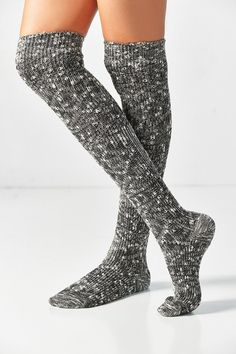 7e53cc72b39 Out From Under Marled Knit Over-The-Knee Sock Knee Socks Outfits