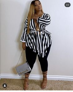 Thick Girl Fashion, Plus Size Fashion For Women, Curvy Women Fashion, Cute Fashion, Look Fashion, Retro Fashion, Fashion Outfits, Plus Fashion, Thick Girls Outfits