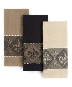 Take a look at this Fleur-de-Lis Jacquard Dish Towel Set by Design Imports on #zulily today!