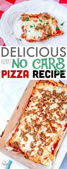 This almost no carb pizza is perfect for diet plans such as Atkins, low carb or ketogenic diets & anyone looking to reduce their carb intake. Easy to make and delicious!