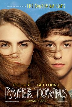 Paper Towns movie poster: Cara Delevingne and Nat Wolff