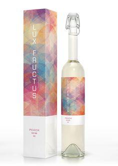 CUBEN Space / Lux Fructus: Fruit Wine Packaging by Marcel Buerkle, via Behance