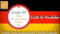 Lecția 24 -Daca lucrurile merg nu prea bine - Lecții de Vocabular in Limba Germană - YouTube Chart, Youtube, Youtubers, Youtube Movies