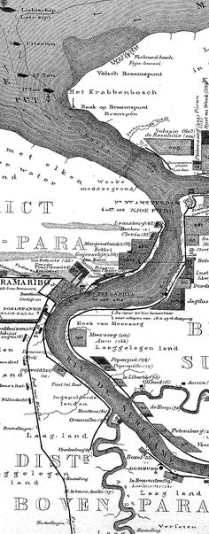 Oude kaarten van Suriname