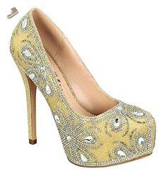 83d791e1b15 Women s Kinko-140 Shimmer Almond Round Toe Dressy High Heel Pump Nude 8 - De  blossom collection pumps for women ( Amazon Partner-Link)