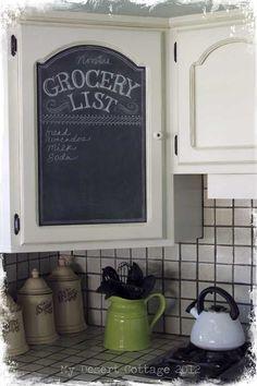 Chalk board for kitchen| google