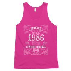 Made in 1986 Vintage Aged to perfection Classic tank top (unisex)