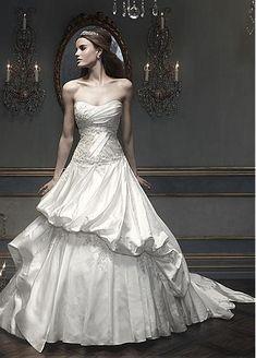 Amazing Satin A-line Sweetheart Neckline Dropped Waistline Wedding Dress