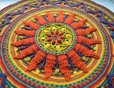 Sunny Rug For Meditation | LillaBjörn's Crochet World