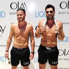 Val and Maksim Chmerkovskiy raise the heat index – and show off their well-sculpted torsos! Description from people.com. I searched for this on bing.com/images