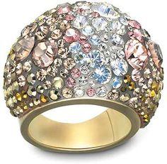 Swarovski Chic Gold Mine Ring - Precious Accents