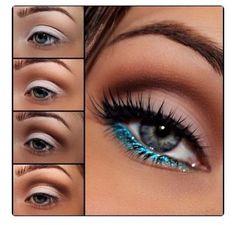 #blueeyes #blueeyeliner #loveit
