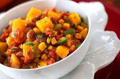 Three sisters stew -corn, beans & squash – How about this for an Iroquois based Thanksgiving dish! Three sisters stew -corn, beans & squash – How about this for an Iroquois based Thanksgiving dish! Soup Recipes, Vegetarian Recipes, Cooking Recipes, Healthy Recipes, Veggie Recipes, Appetizer Recipes, Native Foods, Indian Food Recipes, Ethnic Recipes