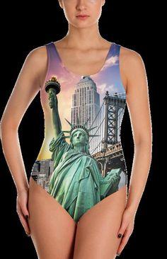 4aa15ce6da NYC Statue of Liberty Swimsuit