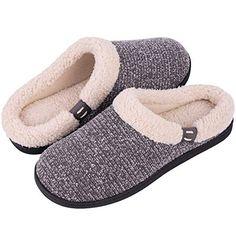 3141d9d8499a Women s  amp  Men s Comfort Memory Foam Slippers Fuzzy Wool Plush Slip-on  Clog House