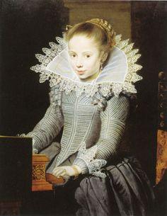 ab. 1624-1625 Cornelis de Vos - Girl at a Virginal