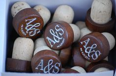 Artisan Wedding Favors by Urban Loft Tampa on Etsy. Wine Corks with Monogram Make Beautiful Rustic Wedding Favors for Wedding Guests. Engraving is Included for Free on Each Wooden Wine…More Wine Cork Wedding, Rustic Wedding Favors, Personalized Wedding Favors, Unique Wedding Favors, Gifts For Wedding Party, Personalized Wine, Wedding Ideas, Diy Wedding, Party Gifts