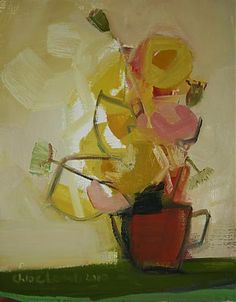 Flowers in a red mug by Chloe lamb