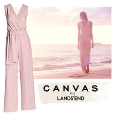 """""""Paint Your Look With Canvas by Lands' End: Contest Entry"""" by nurinur ❤ liked on Polyvore featuring Lands' End and Canvas by Lands' End"""