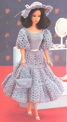 NO PATTERN. Barbie Crochet Dress.