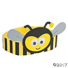 Add this sweet craft for kids to your supply stash! This adorable Bee Headband Craft Kit lets little ones create their own DIY photo booth props and pretend . Bees For Kids, Bee Crafts For Kids, Preschool Crafts, Art For Kids, Headband Crafts, Hat Crafts, Bee Hat, Bee Activities, Diy Photo Booth Props