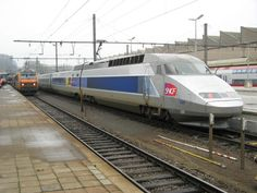 France's TGV ::: France's high-speed train TGV Réseau has a 236 mph capability, but it's normally limited to running at 199 mph.