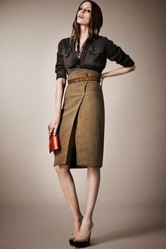 wrap skirt: YES!  boob pockets: no...  Burberry Resort 2013