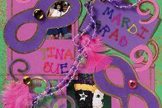 Diy scrapbooking : DIY Mardi Gras Scrapbook Layout