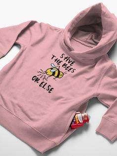 """""""Save the Bees! Or Else..."""" Toddler Pullover Hoodie by grumblebeeart 
