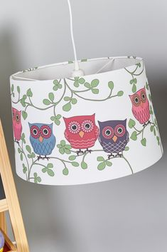 Furnisher for children's room, designer: Sabina Grubeson, fabric lampshade, light by Markslöjd. Item No. Lampshade Designs, Fabric Lampshade, Lamp Light, Light Up, Children's Lighting, Room Designer, Hanging Lights, Little Ones, Finding Yourself