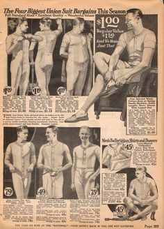1922 Spring/Summer Catalog, National Cloak & Suit Co., page 209 Big Men Fashion, Types Of Fashion Styles, Urban Fashion, 1920 Outfits, Vintage Outfits, Vintage Underwear, Vintage Lingerie, Gatsby Man, Mens Catalogue