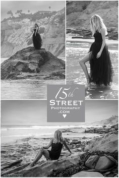 Unique #Beach #Senior #Portrait #Fashion Photography in #California Girl Senior #Picture #Photo Posing Ideas Inspiration for #Boho #waves #Ocean #island sexy black and white picture in Free People outfit and jean shorts & gown & black dress, Torrey Pines La Jolla San Diego Venice Beach Malibu Santa Monica Arizona Cathedral CCA TPHS Del Mar Rancho Santa Fe modeling & Women's headshot Photographer Artist Monica Kane Stewart info@15thStreetPhotography.com