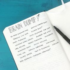 """Add a """"brain dump"""" page. 