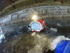 Johny santiago commercial diver for Black dog divers... Go pro pic