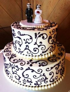 "Day of the Dead Wedding Cakes to Celebrate ""'Til Death Do Us Part"""