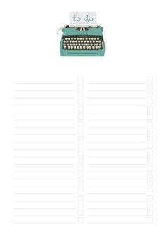 Free Notes & To Do Printables