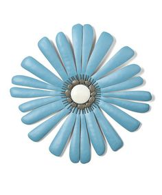 Look at this #zulilyfind! Turquoise Shasta Flower Small Wall Art #zulilyfinds