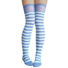 cb59efdbef953 Blue & Light Blue Striped Thigh Highs. Blue And White SocksBlue SocksThigh  High Tube ...