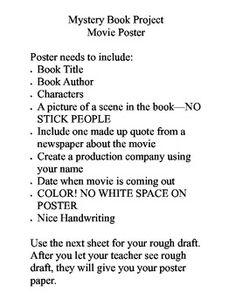 book report mystery genre
