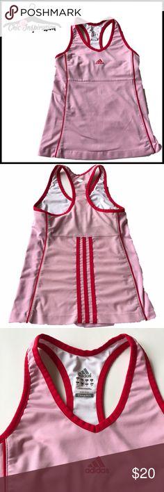 Adidas Pink Workout Tank Built in bra shelf. Mesh back. Clima365 material. Adidas Tops Tank Tops