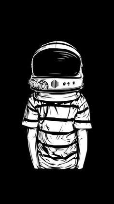 B&W VECTOR on Illustration Served: human body, astronaut head Graffiti, Theme Tattoo, Graphic, Oeuvre D'art, Vector Art, Pop Art, Concept Art, Art Drawings, Street Art