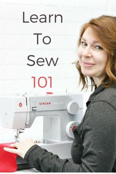 Learn how to sew with this detailed video sewing tutorial. You'll learn everything from how to thread your sewing machine to how to make a buttonhole! #sewingtutorial #sewing #sewingmachine